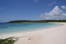 A beach in Vieques.
