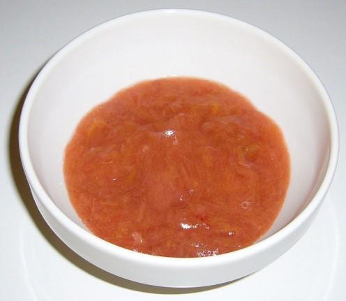 Stewed rhubarb is delicious eaten with yogurt, custard or cream.