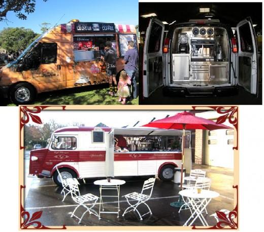Mobile shop; Shop-on-Wheels; Cafe Vans