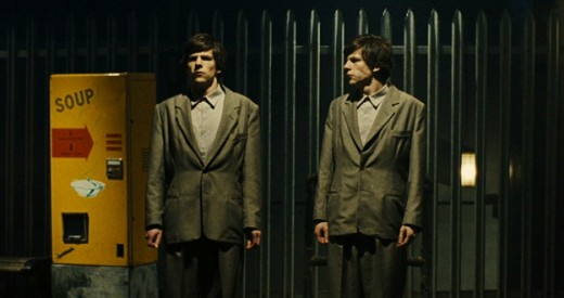 Jesse Eisenberg as Simon and James in The Double