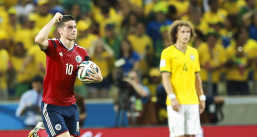 James Rodriguez scored his last goal of the World Cup against Brazil. Rodriguez won the Golden Boot with 6 goals.