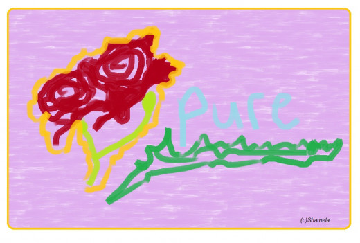 My drawing of roses.