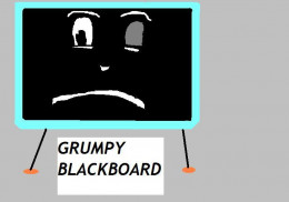 Blackboard on Mr. Squiggle and Friends was not always a happy camper.