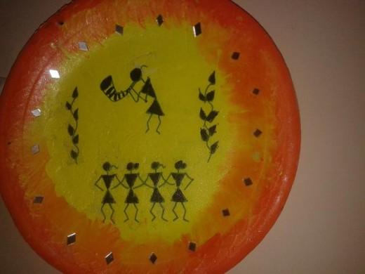 Warli designer plate