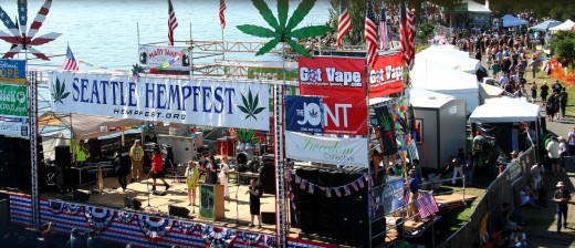 Seattle Hempfest 2013. Image Copyright: Misfit Chick