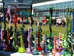 Bongs for Sale at Seattle's Hempfest, 2013. Image Copyright: Misfit Chick