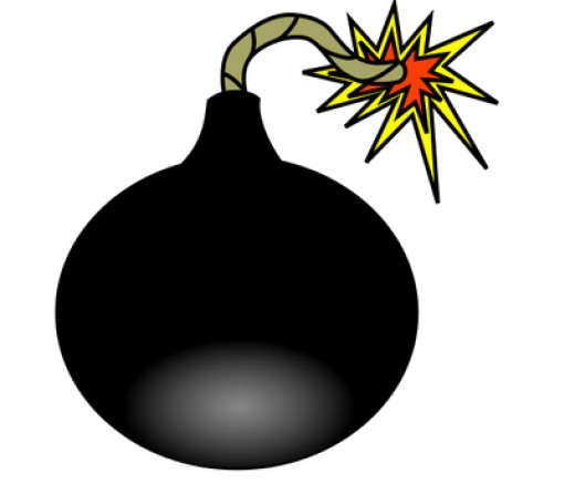 A black bomb may demonstrate a sense of danger and caution about the unknown.