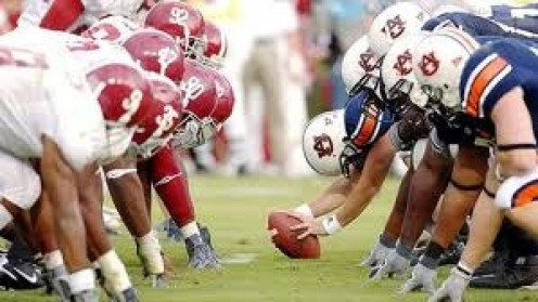 The Alabama Crimson Tide and the Auburn Tigers have a heated college football rivalry.