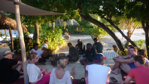Guests at the Kava Ceremony