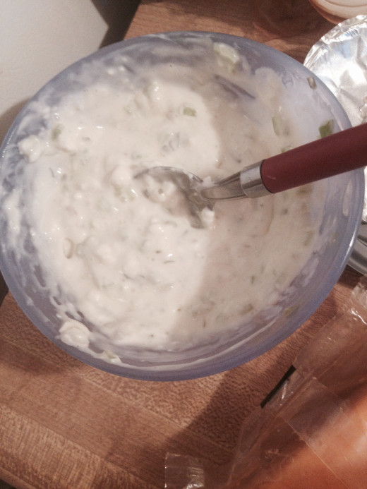 Cream cheese mixture for stuffed portobello mushrooms
