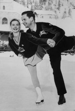 Barbara Ann Scott and Hans Gerschwiler practice together