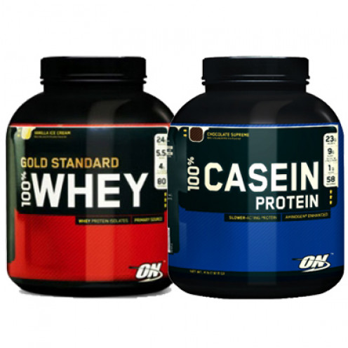 Whether you use whey protein or casein is a matter of preference and what is available. It makes no difference to the outcome of the pancakes.