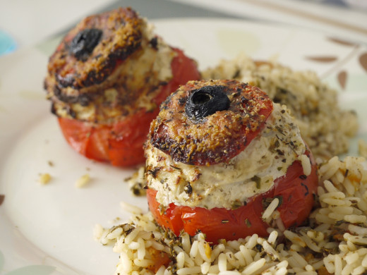 Stuffed Tomatoes with rice.