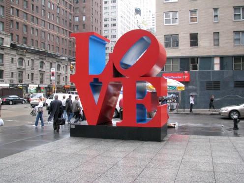 Love sculpture (public domain)