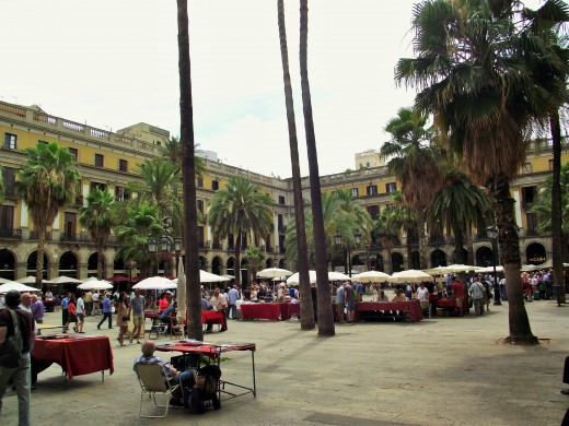 A plaza off Las Ramblas where my hostel was located.