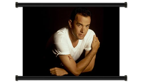 "Tom Hanks Actor Fabric Wall Scroll Poster (32"" X 24"") Inches"