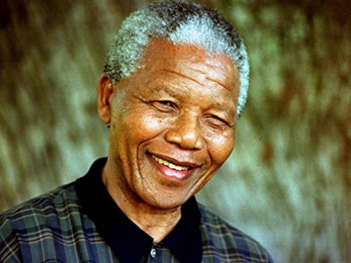 SV3921 Nelson Mandela Portrait Smile 24x18 Print POSTER