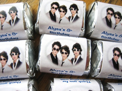 Jonas Brothers Candy Wrapper Favors