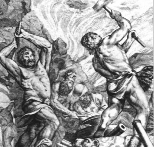 Zeus rebels against Cronos