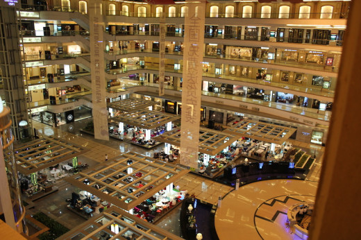 Furniture wholesale market with shopping mall like atmosphere in contrast a different experience all together