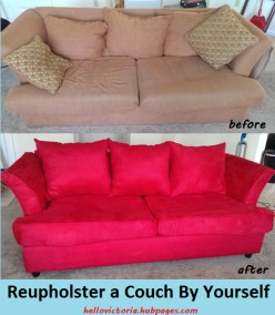Home Decor DIY: How to Reupholster a Couch By Yourself (Especially If You're a Beginner)