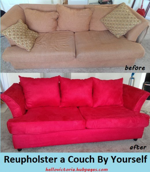 A Beginner S Guide To Reupholstering Couch