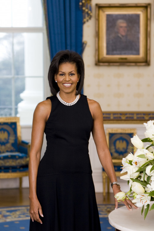 The First Lady in Pearls.