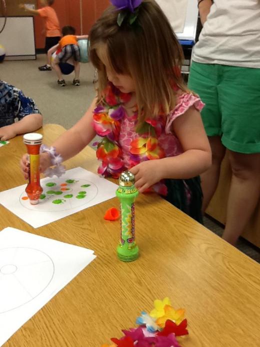 Chloe doing some Art!