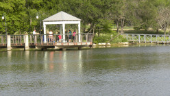 Covered Fishing Pier at Mills Pond Austin TX