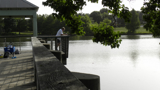 Enjoy the relaxation of fishing off the dock
