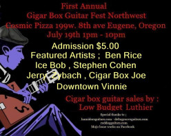 Cigar Box Guitar Fest NW in Eugene Oregon June 6th 2015