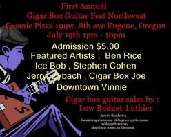 Cigar Box Guitar Fest NW in Eugene Oregon June 6th 2015