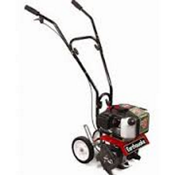 Tiny garden tillers are economically available in both gas and electric models.
