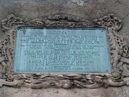 A plaque marking the original landing spot in 1623
