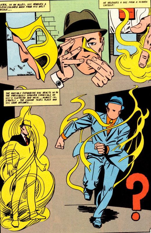 The Question in Mysterious Suspense #1, Charlton Comics, 1968.