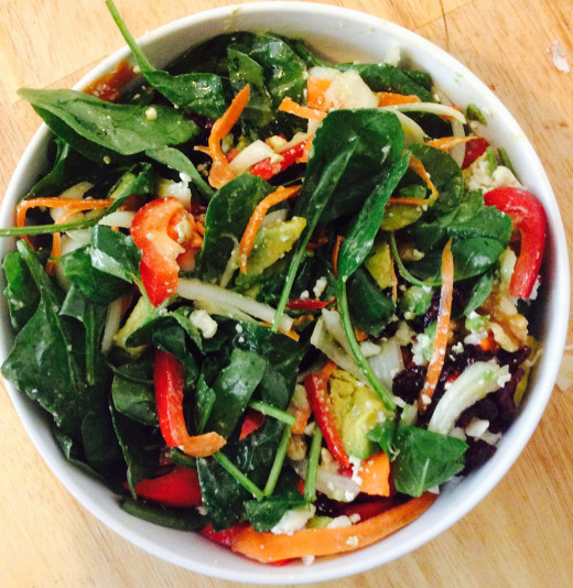 Finished salad