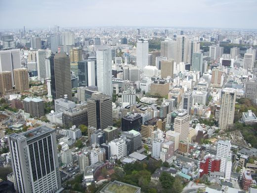 Spectacular View of Tokyo Japan from Tokyo Tower