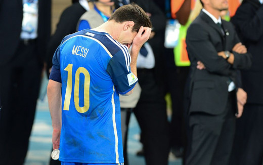 Lionel Messi was in tears after losing the World Cup final.