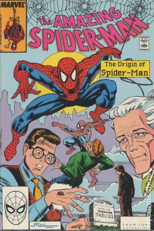 The origin of Spider-Man