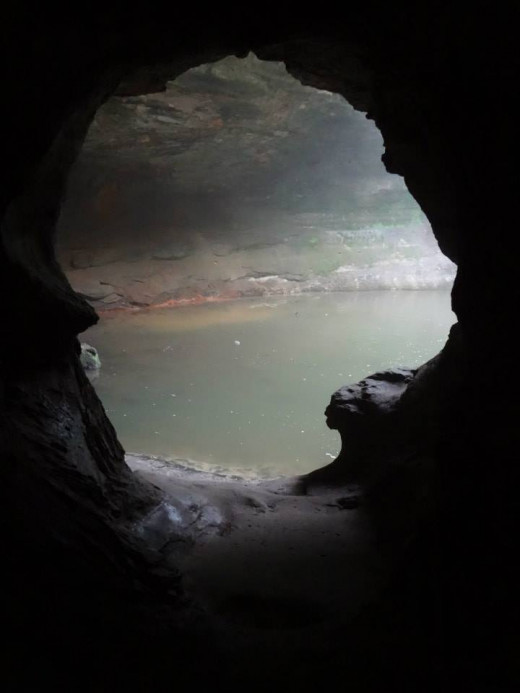 Cave in the lower dells area