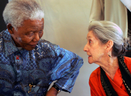The author with Nelson Mandela.