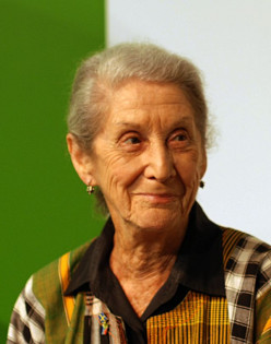 Nadine Gordimer, anti-apartheid South African writer and 1991 Nobel in Literature recipient.