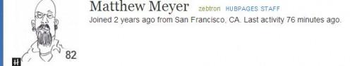 Screen shot of Matt Meyer's homepage Tech support