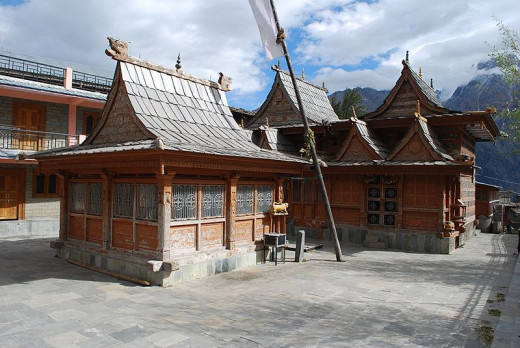 Temple at Kalpa in Kinnaur