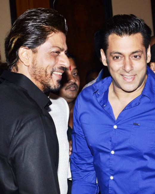 At a recent event, when Salman was asked, who he thought would be a good host for Bigg Boss season 8, he promptly replied Shah Rukh Khan.Bollywood on Biscoot Showtym : http://www.biscoot.com/showtym