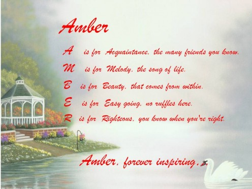 The name Amber means precious jewel