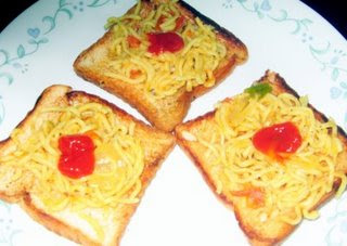 Super noodles on toast - the ultimate student food