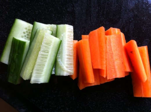 Crudites - healthy nutritious and they take a while to eat!