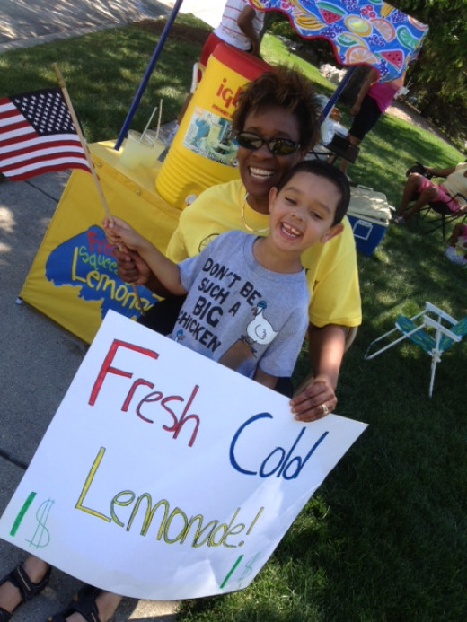 Kids Learns The Value of a Dollar Selling Lemonade.