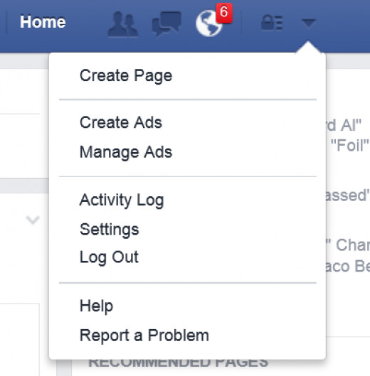 "Go to ""Settings"" then ""Blocking"" to manage Facebook games or users you want to block requests from."